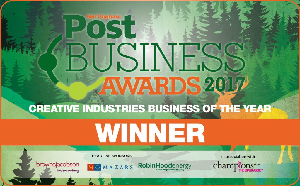 Nottingham Post Awards Creative Industries Business of the Year