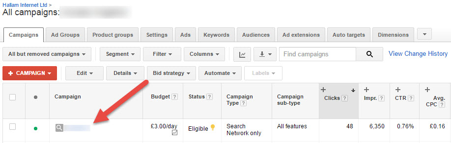 custom ad scheduling - enabling all features in adwords step one