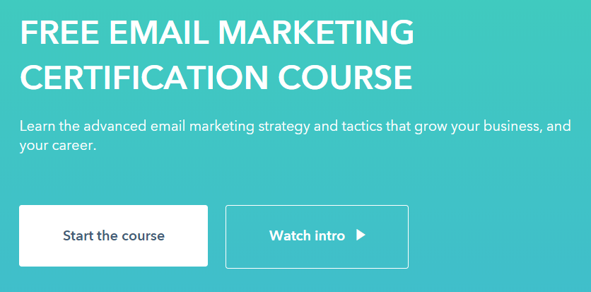 Email Marketing Course Hubspot