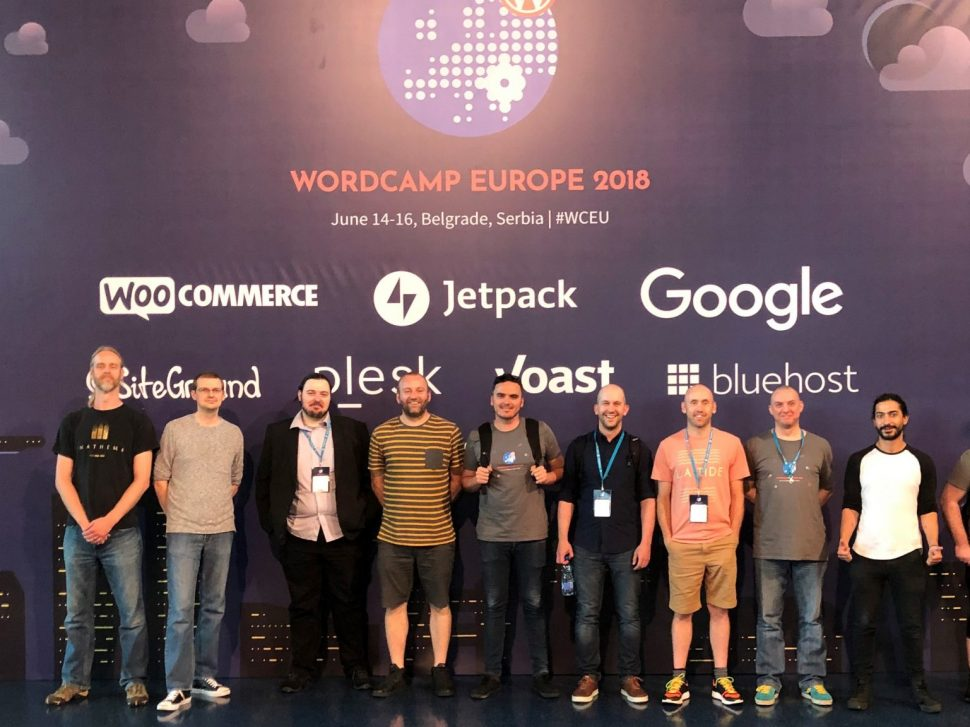 Hallam developers at WordCamp Europe 2018